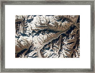 Bivachny Glacier Framed Print by Nasa