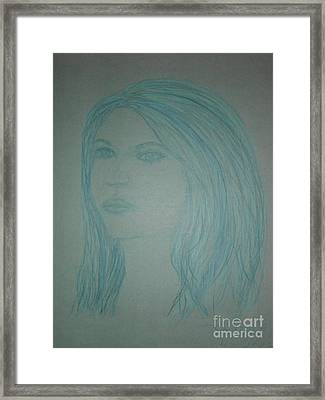 Biviana In Blue Framed Print by James Eye