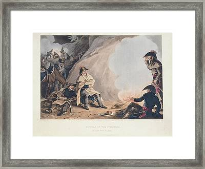 Bivouac In The Pyreness Framed Print by British Library