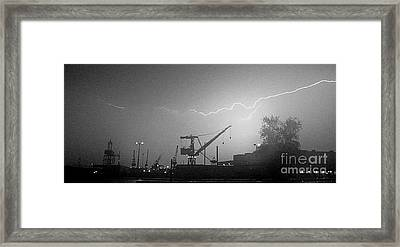 Biw Lightning 2 Framed Print