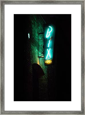 Bix Restaurant San Francisco Framed Print by SFPhotoStore