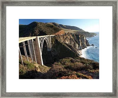 Bixby Bridge Afternoon Framed Print