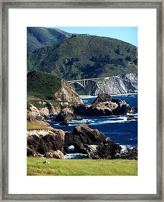 Bixby Bridge Framed Print