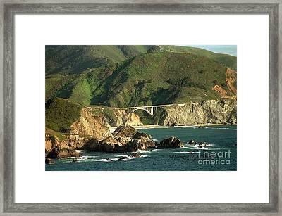 Bixby Bridge Framed Print by DJ Laughlin