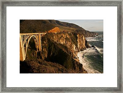 Framed Print featuring the photograph Bixby Bridge by Lee Kirchhevel