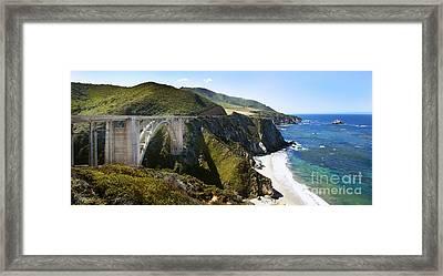 Bixby Bridge Near Big Sur On Highway One In California Framed Print