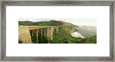 Bixby Bridge On The Big Sur Coast Framed Print by Panoramic Images