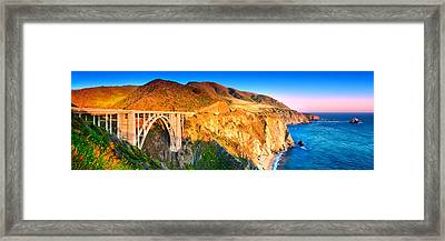 Bixby Creek Arch Bridge Framed Print