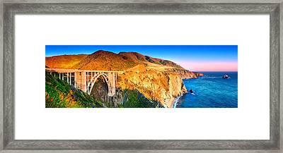 Bixby Creek Arch Bridge Framed Print