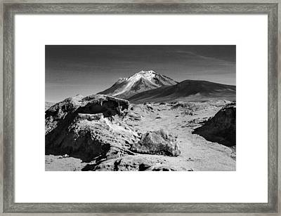 Bizarre Landscape Bolivia Black And White Framed Print by For Ninety One Days