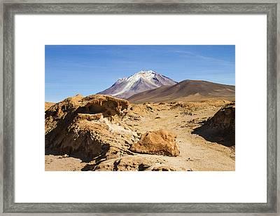 Bizarre Landscape Bolivia Framed Print by For Ninety One Days