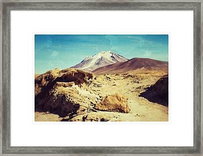 Bizarre Landscape Bolivia Vintage Color Framed Print by For Ninety One Days