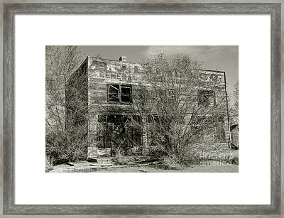 B.j. Lund Company General Merchandise And Hotel  - Modena - Utah Framed Print by Gary Whitton