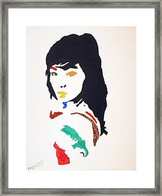 Bjork Framed Print by Stormm Bradshaw