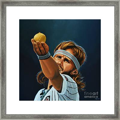 Bjorn Borg Framed Print by Paul Meijering