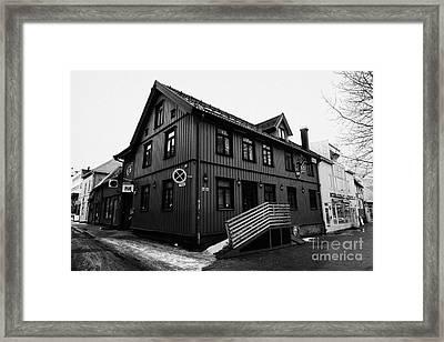bla rock cafe Tromso troms Norway europe Framed Print