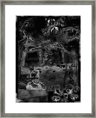 Black 3 Framed Print by Edwin Jumalon
