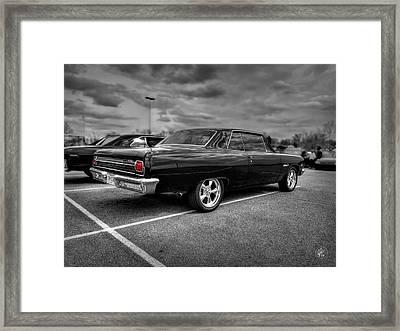 Black '65 Z16 Chevelle Malibu Ss396 Framed Print