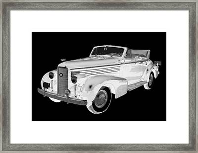 Black An White 1938 Cadillac Lasalle Pop Art Framed Print by Keith Webber Jr