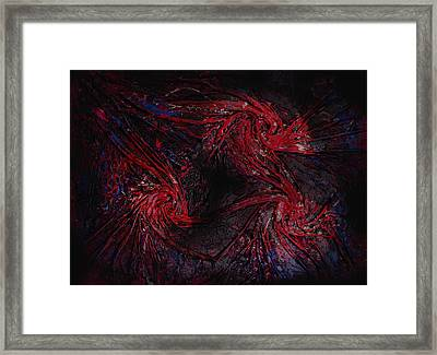 Black And Blue And Mad All Over Framed Print