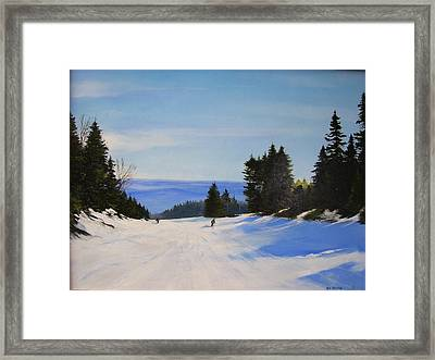 Black And Blue Framed Print by Ken Ahlering