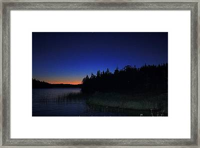 Black And Blue Sky Framed Print by Jason Lees