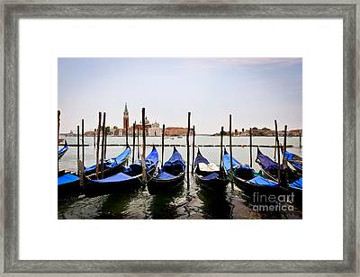 Black And Blue Framed Print by Stefano Carini