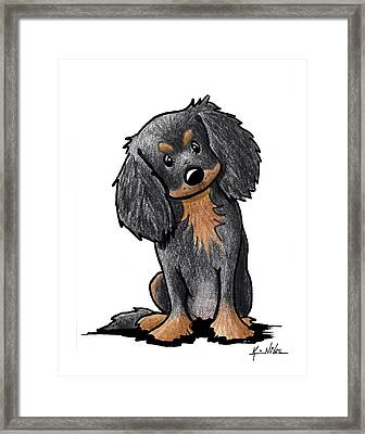 Black And Brown Ckc Spaniel Framed Print by Kim Niles
