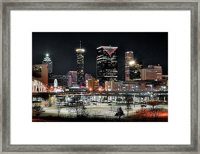 Atlanta In Black And Color Framed Print