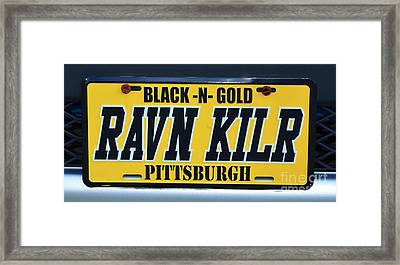 Pittsburgh Steelers Black And Gold Framed Print by Bob Sample