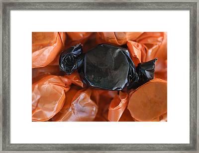 Black And Orange Framed Print