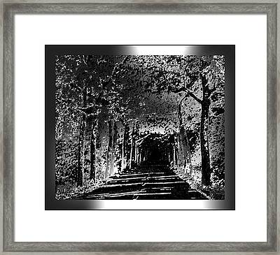 Black And Silver With Border Framed Print by L Brown