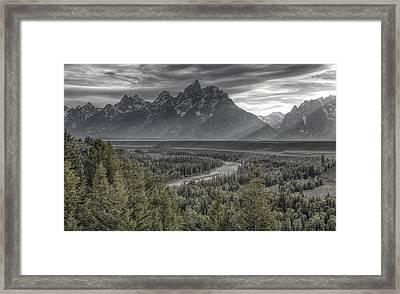 Black And Teton Framed Print