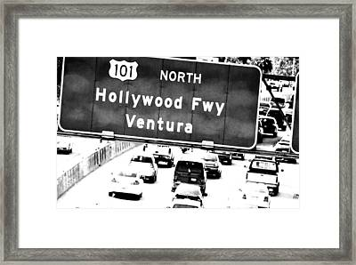 Framed Print featuring the photograph Black And White Abstract City Photography...101 North by Amy Giacomelli