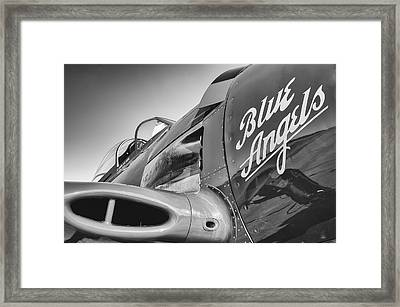 Black And White Blues Framed Print