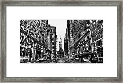 Black And White Broadstreet Framed Print