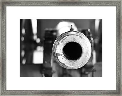 Black And White Cannon Framed Print