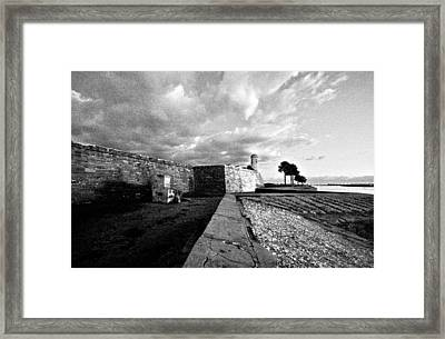 Black And White Castillo De San Marcos View 4 Framed Print