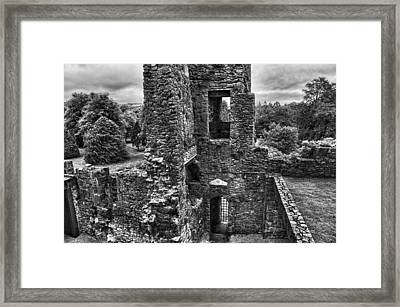 Black And White Castle Framed Print