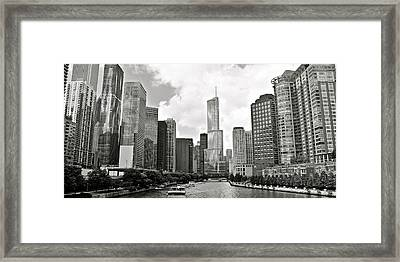 Black And White Chicago Framed Print by Frozen in Time Fine Art Photography