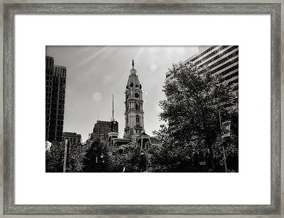 Black And White City Hall Framed Print