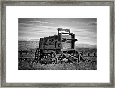 Black And White Covered Wagon Framed Print by Athena Mckinzie