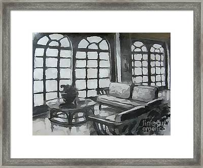 Black And White Designs Framed Print by John Malone