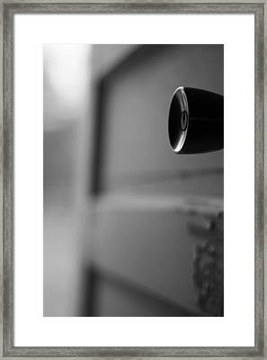 Black And White Door Handle Framed Print by Dan Sproul