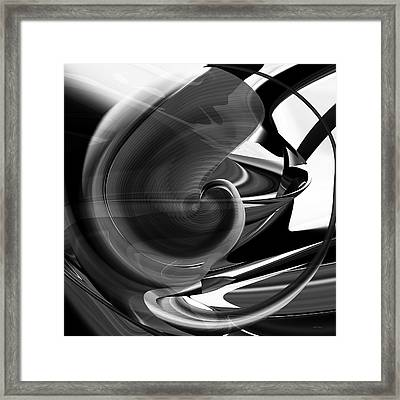 Black And White Future Abstract Framed Print