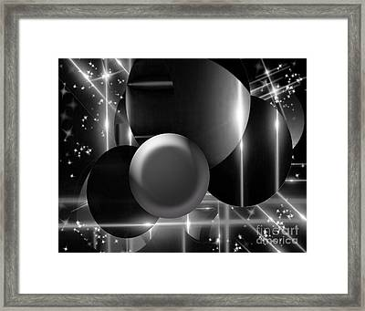 Black And White Glory Framed Print by Gayle Price Thomas