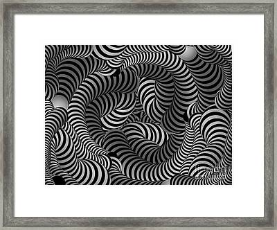 Black And White Illusion Framed Print