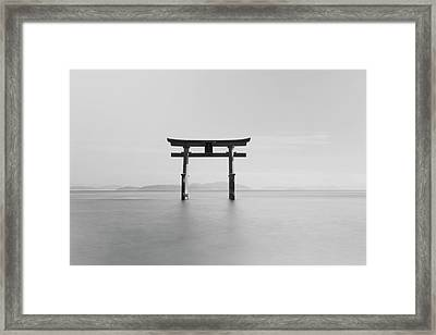 Black And White Image Of A Floating Framed Print