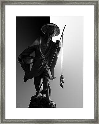 Black And White Ivory Fisherman Framed Print by Sean Kirkpatrick