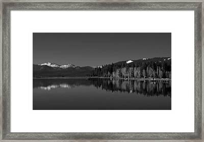 Black And White Lake Tahoe Reflection Framed Print